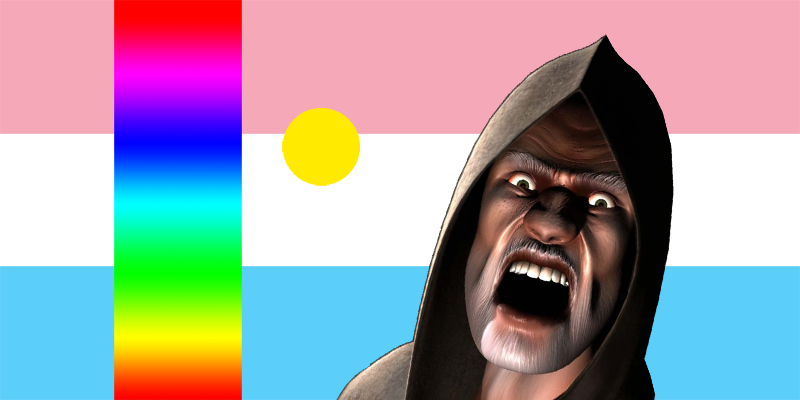 The international Genderdruid flag